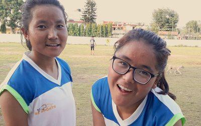 SMD Girls on Tibet Soccer Team